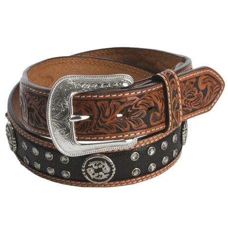 3-D Belt Company Stingray Belt - Black Leather (For Men and Women)