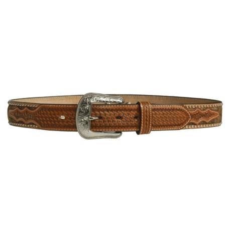 3-D Belt Company Leather Longhorn Belt (For Men)