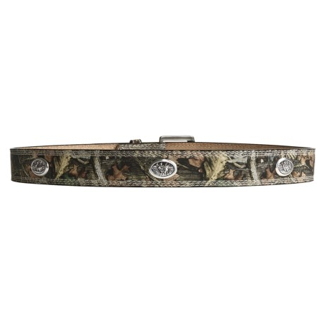 Silver Strike Leather Camo Belt (For Men)