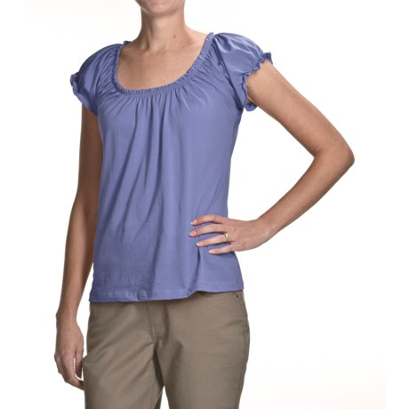 Nomadic Traders Paseo Sophia Shirt - Pima Cotton, Short Sleeve (For Women)