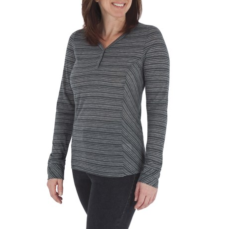 Royal Robbins Sandstone Stripe Henley Shirt - Long Sleeve (For Women)