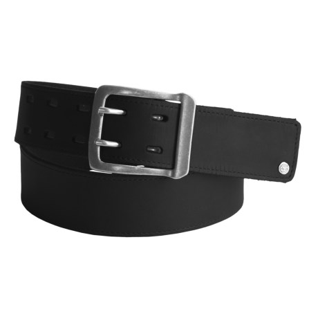 Timberland Matted Leather Belt - Double Prong (For Men)