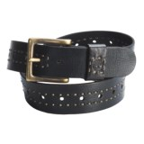 Timberland Vintage Distressed Leather Belt (For Men)