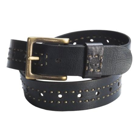 Timberland Vintage Distressed Leather Belt (For Men)