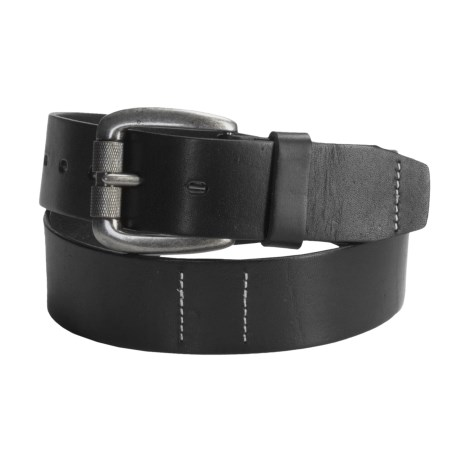 Timberland Leather Belt - Rounded Roller Buckle (For Men)