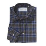 Mason's Large Check Sport Shirt - Long Sleeve (For Men)