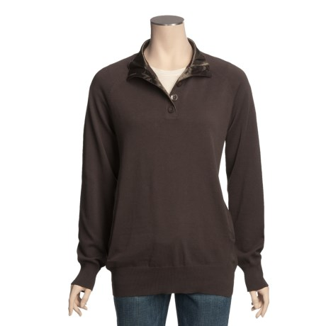 Pulp Button Placket Sweater (For Women)