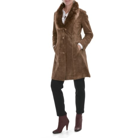 Two Star Dog Diedre Suede Coat - Faux-Fur Collar (For Women)