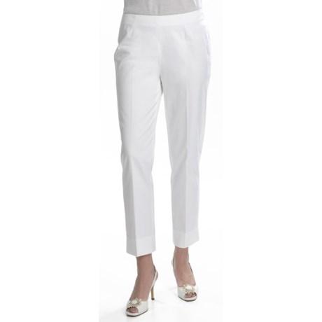 Lafayette 148 New York Bleecker Crop Pants - Stretch Cotton Sateen (For Women)