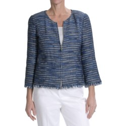 Lafayette 148 New York Verona Jacket - 3/4 Sleeve (For Women)