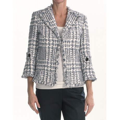 Lafayette 148 New York Corina Jacket - Frolic Fringe Cloth (For Women)