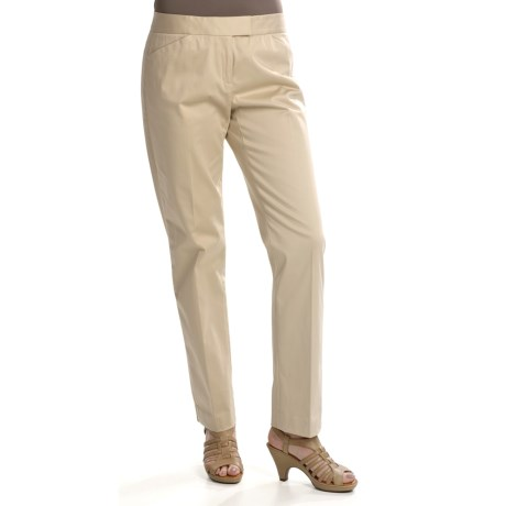 Lafayette 148 New York Slim Leg Pants - Stretch Cotton (For Women)