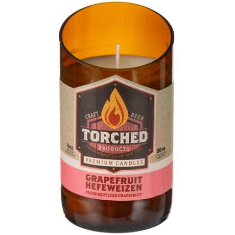 Torched Grapefruit Hefeweizen Beer Bottle Candle - 11 oz.