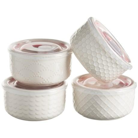 Signature Housewares Sahara Storage Bowls - 4-Pack, Stoneware