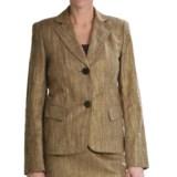 Lafayette 148 New York Jamison Golden Jacket - Linen-Cotton Basket Weave (For Women)
