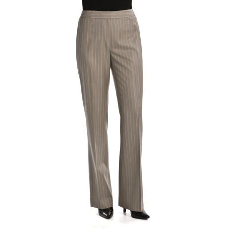 Lafayette 148 New York Classic Pinstripe Pants - Silk-Wool (For Women)