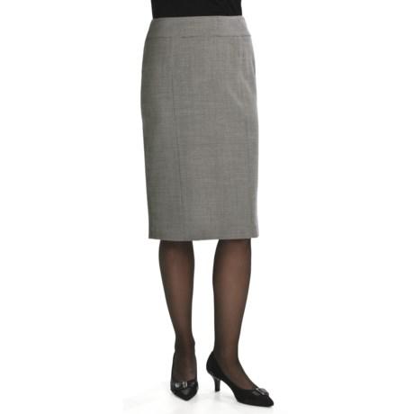 Lafayette 148 New York Optical Wool Crepe Skirt (For Women)