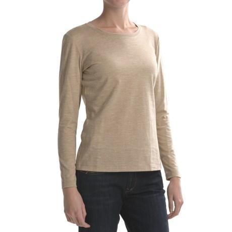 Lafayette 148 New York Basic Heathered Cotton Shirt - Long Sleeve (For Women)