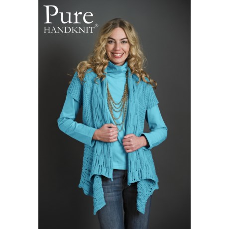 Pure Handknit Chamonix Cardigan Sweater - Short Sleeve (For Women)