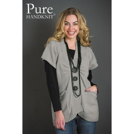 Pure Handknit Avery Tunic Sweater - Short Sleeve (For Women)