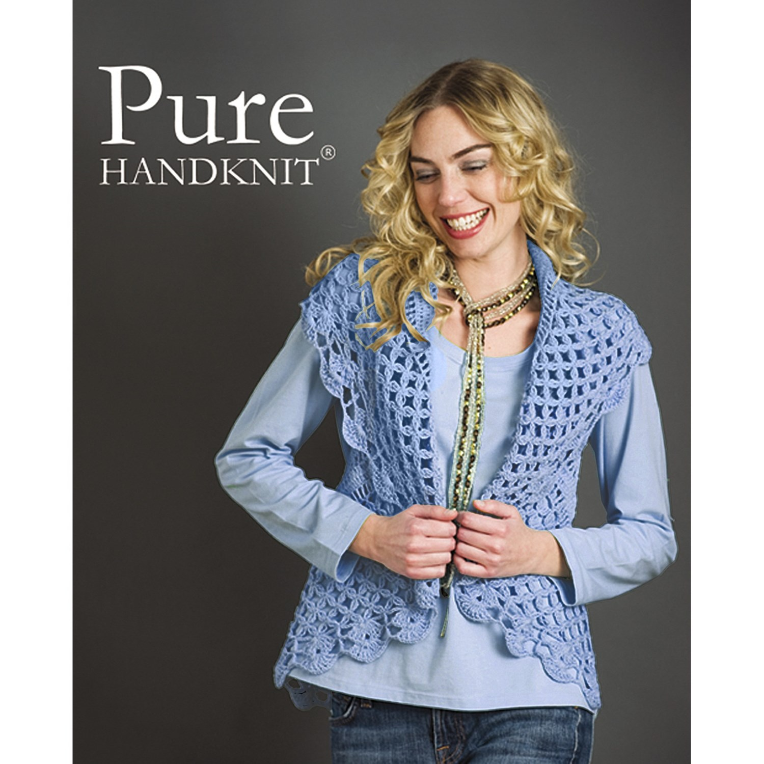 Pure Handknit Stella Cocoon Cable Sweater Vest (For Women ...