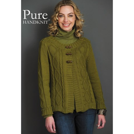 Pure Handknit Katy Cardigan Sweater - Cotton (For Women)