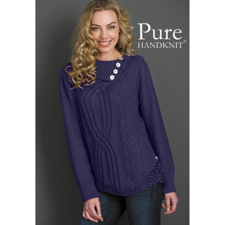 Pure Handknit Karina Pullover Sweater (For Women)