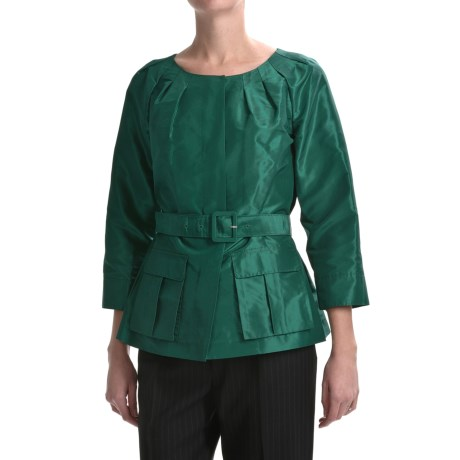 Lafayette 148 New York Continental Ezra Jacket - Silk Taffeta (For Women)
