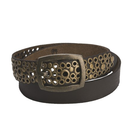 Leather Island by Bill Lavin Leather Belt - Grommet Tip (For Men and Women)