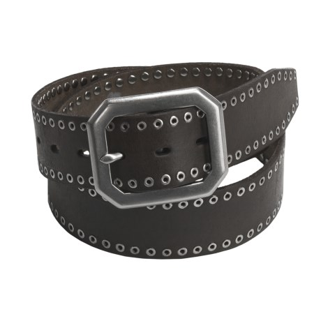 Leather Island by Bill Lavin Grommet Belt - Leather (For Men and Women)