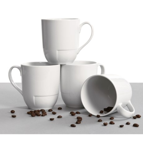 BIA Cordon Bleu Sweep Mugs - Set of 4, Porcelain