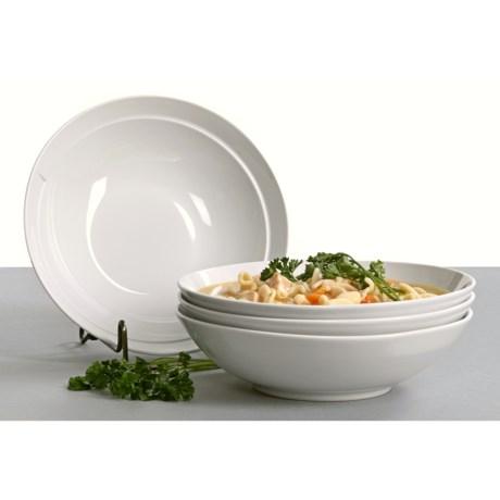 BIA Cordon Bleu Sweep Coupe Soup Bowls - Set of 4, Porcelain