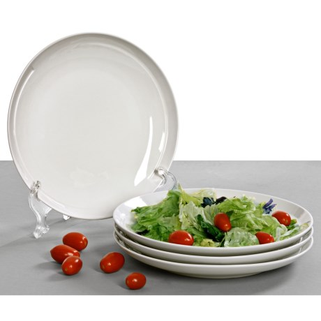 BIA Cordon Bleu Sweep Coupe Salad Plates - Set of 4, Porcelain