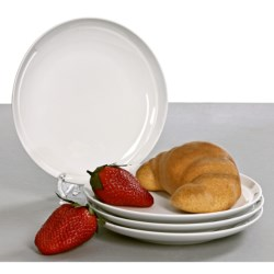 BIA Cordon Bleu Sweep Coupe Bread and Butter Plates - Set of 4, Porcelain