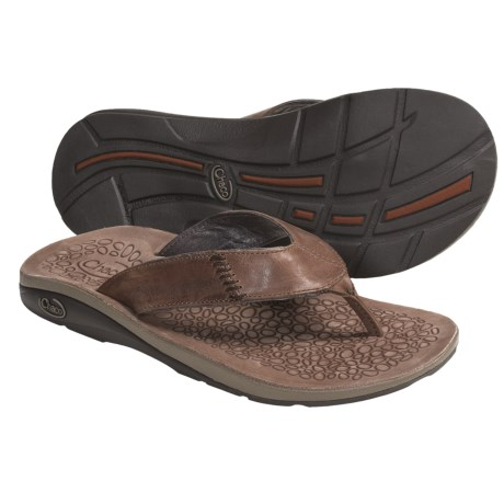 Chaco Cordonazo Ecotread Thong Sandals - Leather (For Men)