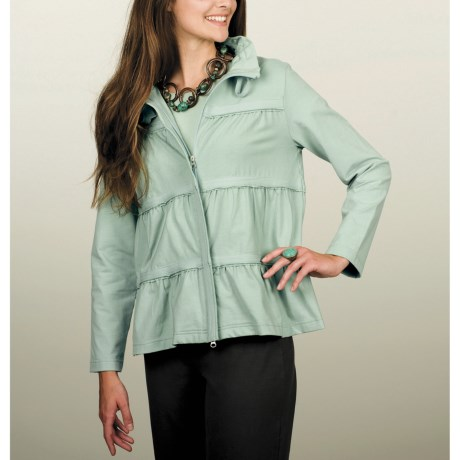 Neon Buddha Sassy Ruffle Jacket - Stretch Cotton Jersey (For Women)