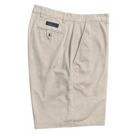 Lokee Cotton Shorts - Flat Front (For Men)