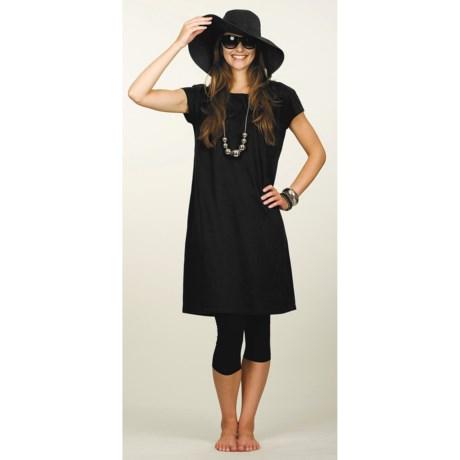 Neon Buddha Studio Dress - Stretch Cotton, Short Sleeve (For Women)