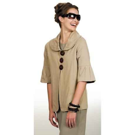 Neon Buddha Studio Swing Jacket - Stretch Cotton, 3/4 Sleeve (For Women)