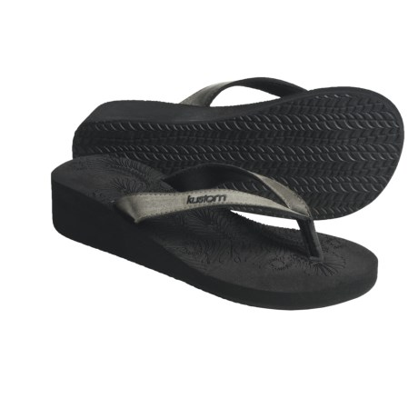 Kustom Ace Sandals - Flip-Flops, Wedge (For Women)