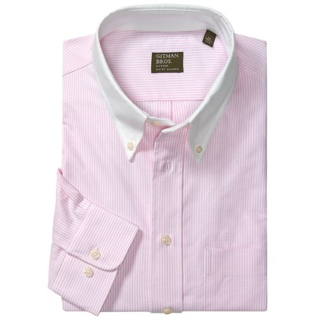 Gitman Brothers Button Down Pattern Sport Shirt - Long Sleeve (For Men)