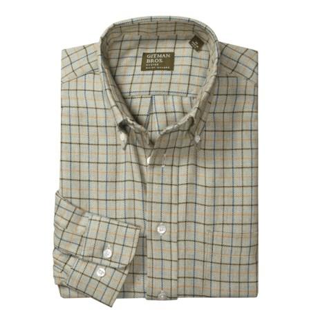 Gitman Brothers Knit Plaid Sport Shirt - Long Sleeve (For Men)