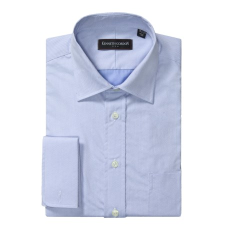 Kenneth Gordon Diagonal Twill Dress Shirt - French Cuff, Long Sleeve (For Men)