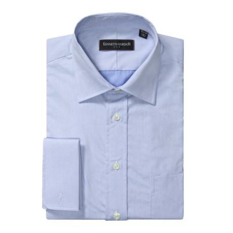 Kenneth Gordon Diagonal Twill Dress Shirt - French Cuff, Long Sleeve (For Men)