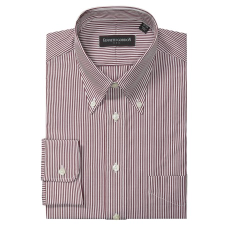 Kenneth Gordon Striped Broadcloth Dress Shirt - Long Sleeve (For Men)