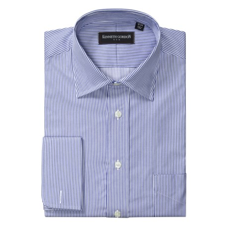 Kenneth Gordon Narrow Stripe Dress Shirt - Cotton, French Cuff, Long Sleeve (For Men)