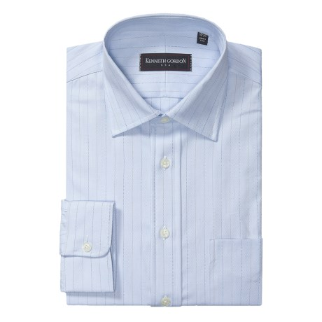 Kenneth Gordon Herringbone Dress Shirt - Spread Collar, Long Sleeve (For Men)
