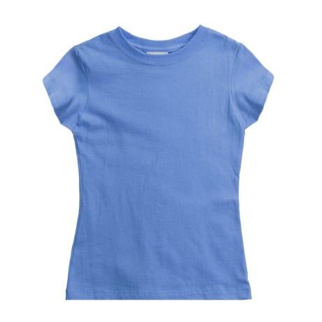 Hanes Cotton T-Shirt - Short Sleeve (For Girls)