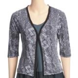 Ojai Burnout Cardigan Shirt - 3/4 Sleeve (For Women)