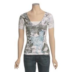Ojai Burnout V-Neck Shirt - Short Sleeve (For Women)